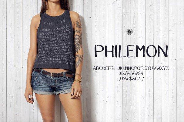 Philemon Font шрифт скачать бесплатно