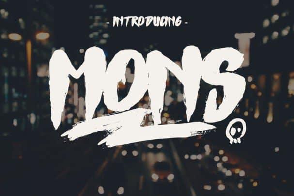 Mons Typeface шрифт скачать бесплатно