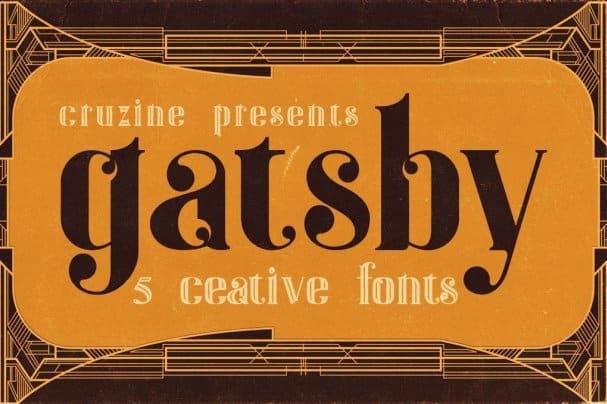 Gatsby - ArtDeco   шрифт скачать бесплатно