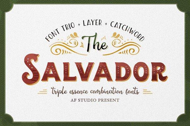 The Salvador шрифт скачать бесплатно