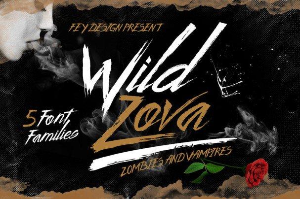 Wild Zova - Brush Font шрифт скачать бесплатно