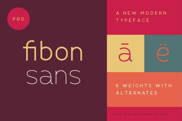 Fibon Sans шрифт скачать бесплатно