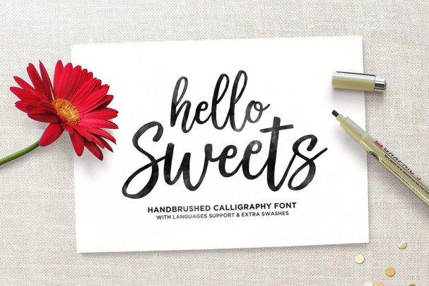Hello Sweets Script шрифт скачать бесплатно
