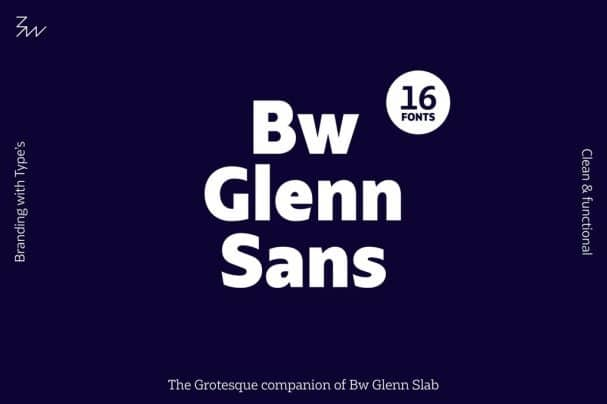 Bw Glenn Sans font family шрифт скачать бесплатно