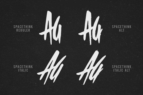 Spacethink Typeface шрифт скачать бесплатно