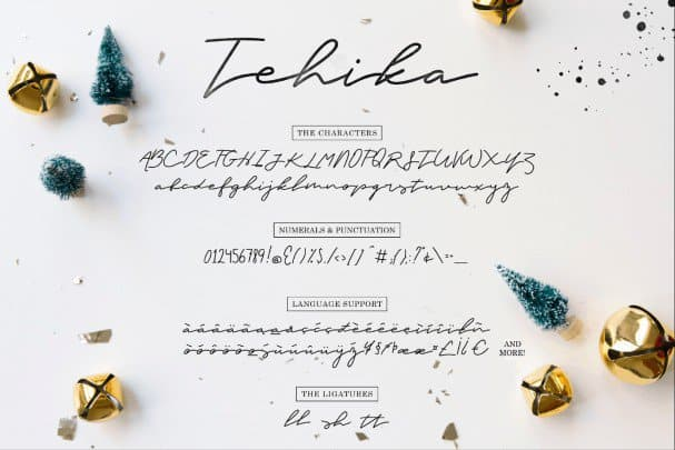 Tehika Script шрифт скачать бесплатно