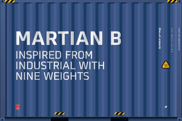 Martian B шрифт скачать бесплатно