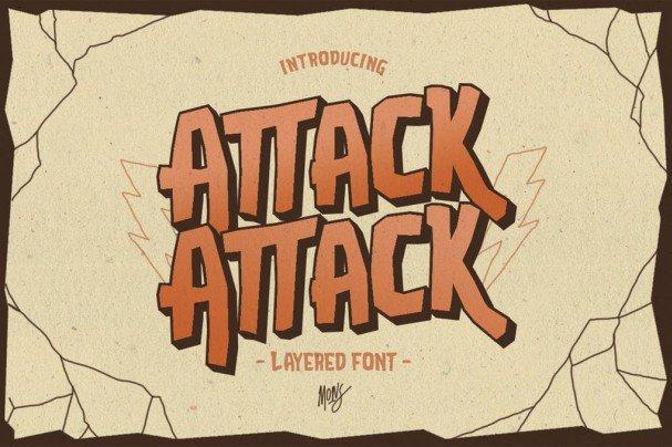 Attack-Attack Typeface шрифт скачать бесплатно