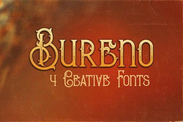 Bureno - Decorative   шрифт скачать бесплатно