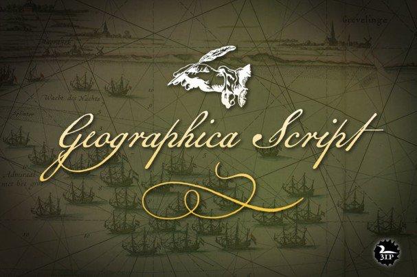 Geographica Script шрифт скачать бесплатно
