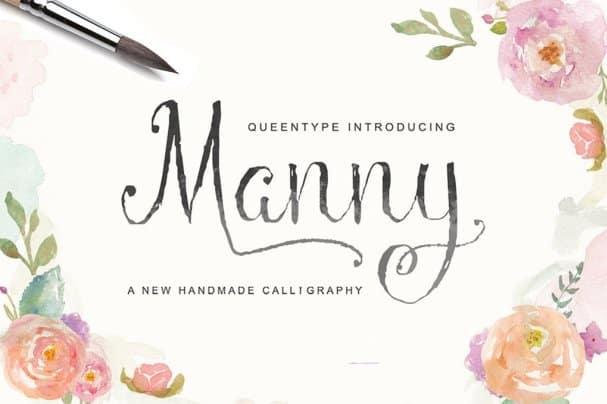 Manny Script шрифт скачать бесплатно