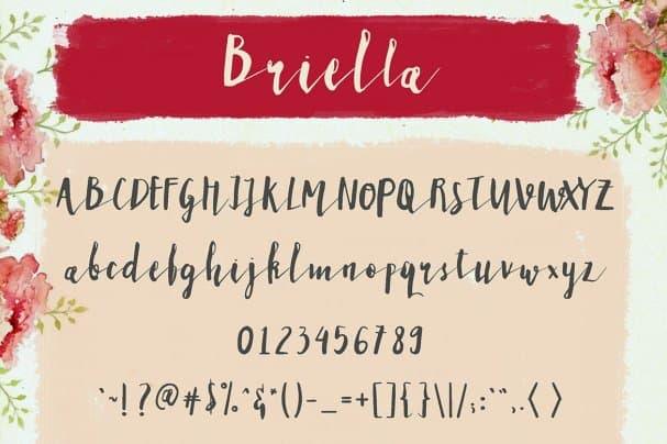 Briella шрифт скачать бесплатно