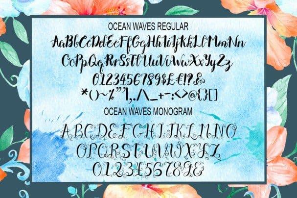 Ocean Waves Brush   Duo шрифт скачать бесплатно