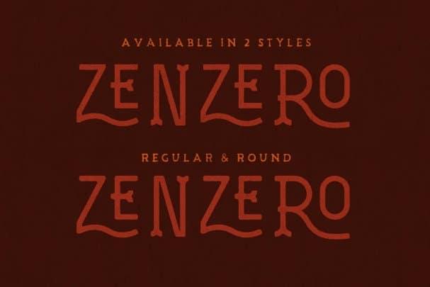 Zenzero Grotesk Typeface шрифт скачать бесплатно