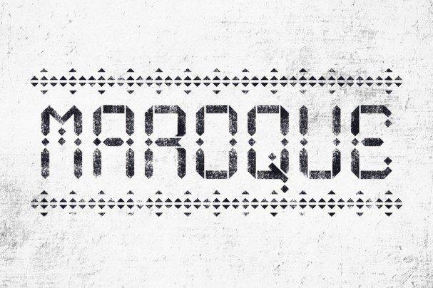 Maroque Stencil шрифт скачать бесплатно