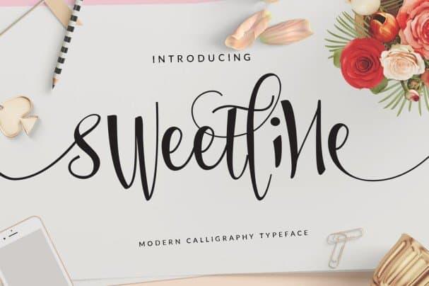 Sweetline шрифт скачать бесплатно