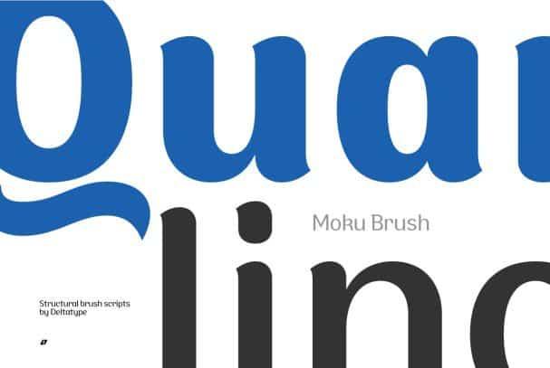 Moku Brush шрифт скачать бесплатно