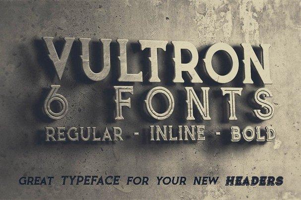 Vultron - Vintage Style Font шрифт скачать бесплатно