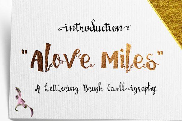 Love Mile шрифт скачать бесплатно