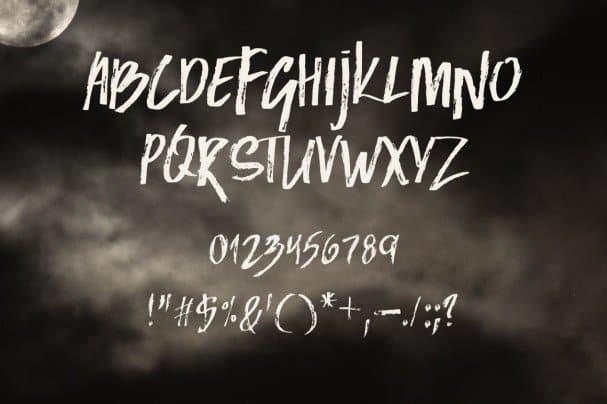 Black Moon шрифт скачать бесплатно