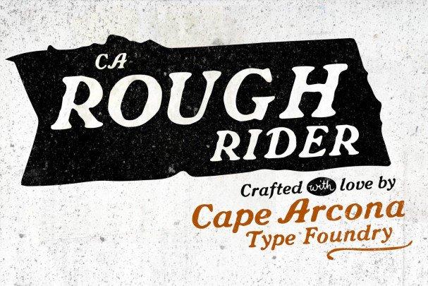 CA Rough Rider шрифт скачать бесплатно