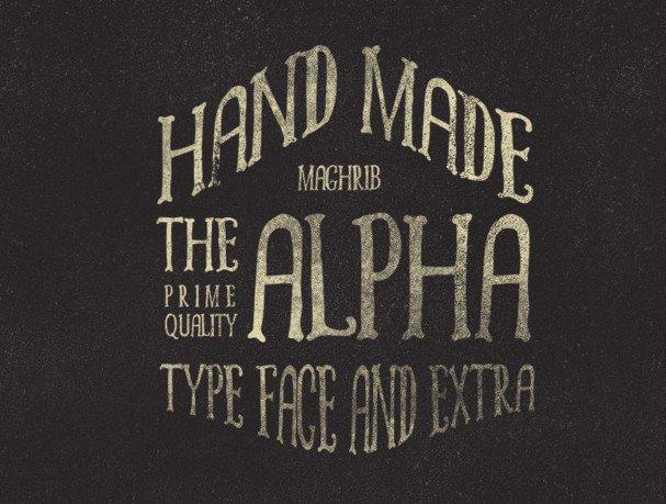 Alpha rough & Extras шрифт скачать бесплатно
