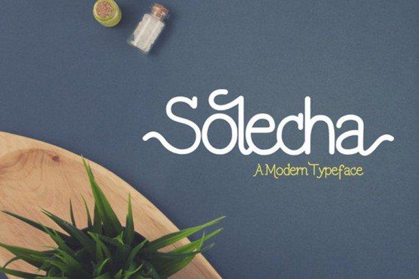 Solecha Font шрифт скачать бесплатно
