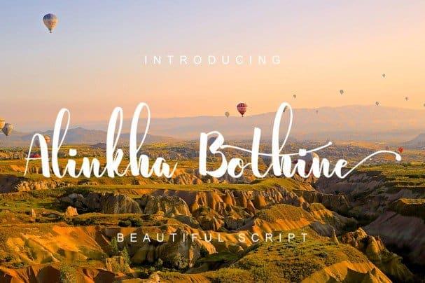 Alinkha Bothine шрифт скачать бесплатно