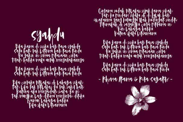 Syahdu Font шрифт скачать бесплатно