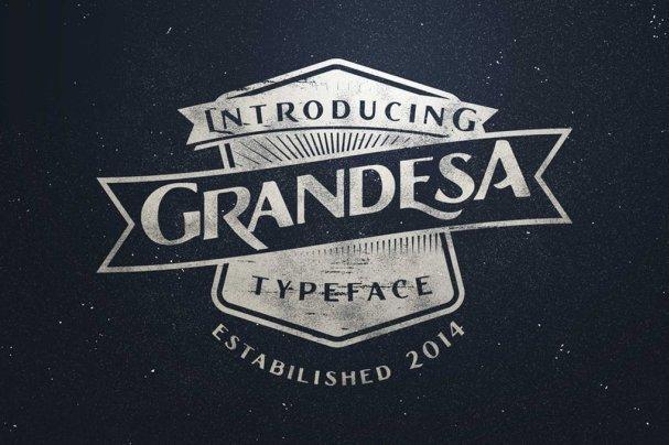 Grandesa Typeface шрифт скачать бесплатно