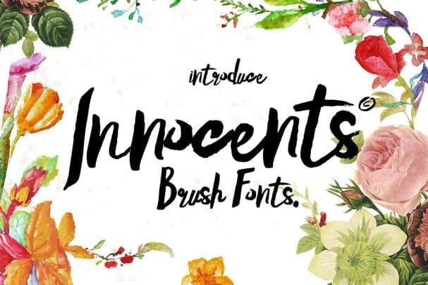 Innocents Brush script шрифт скачать бесплатно