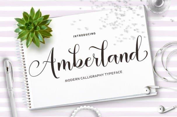 Amberland Script шрифт скачать бесплатно