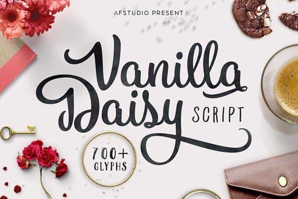 Vanilla Daisy шрифт скачать бесплатно