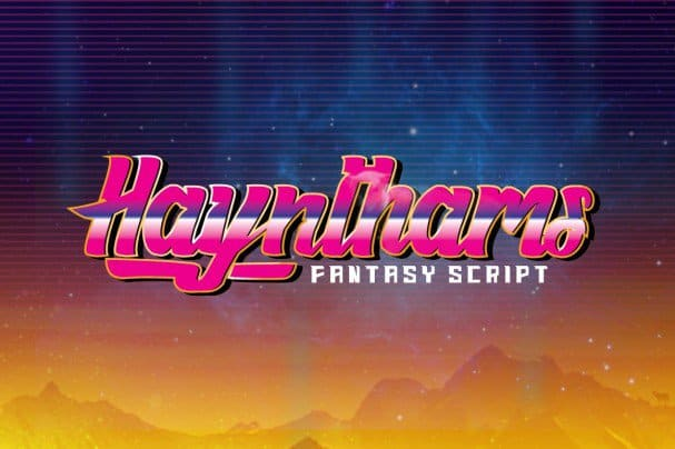 Haynthams Spacescript 2 in 1 шрифт скачать бесплатно