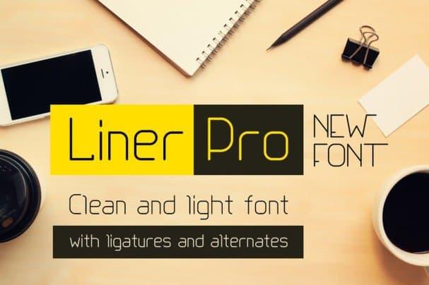 Liner Pro шрифт скачать бесплатно