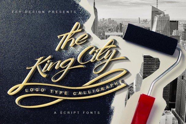 King City - Script   шрифт скачать бесплатно