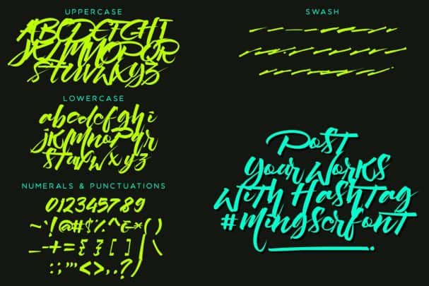 Mingser   шрифт скачать бесплатно