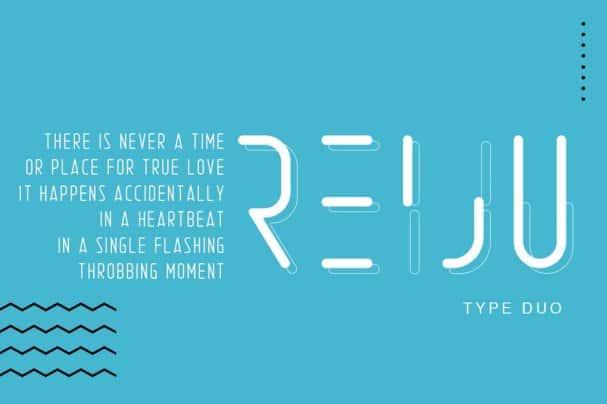 Reiju | Typeface Duo шрифт скачать бесплатно