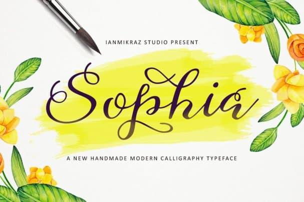 Sophia Script шрифт скачать бесплатно