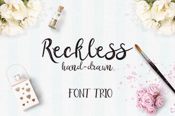Reckless   Trio шрифт скачать бесплатно