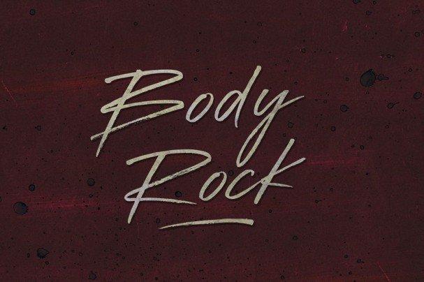 Body Rock шрифт скачать бесплатно