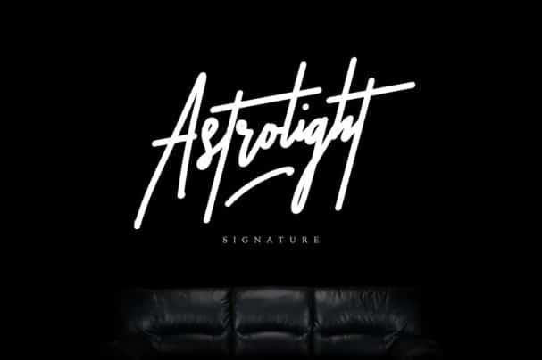 Astrolight Signature шрифт скачать бесплатно