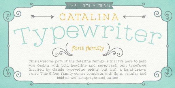Catalina Typewriter шрифт скачать бесплатно