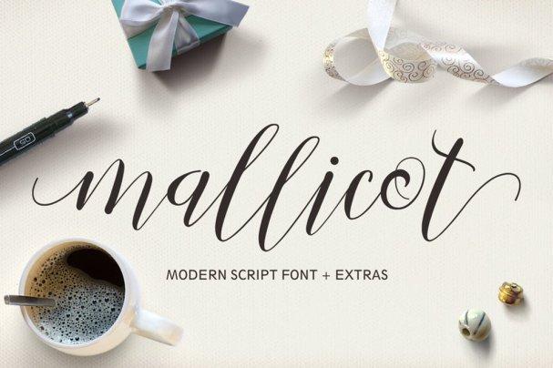 Mallicot Script шрифт скачать бесплатно