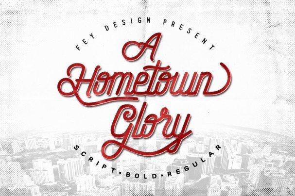 Hometown шрифт скачать бесплатно