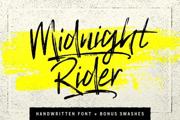 Midnight Rider шрифт скачать бесплатно