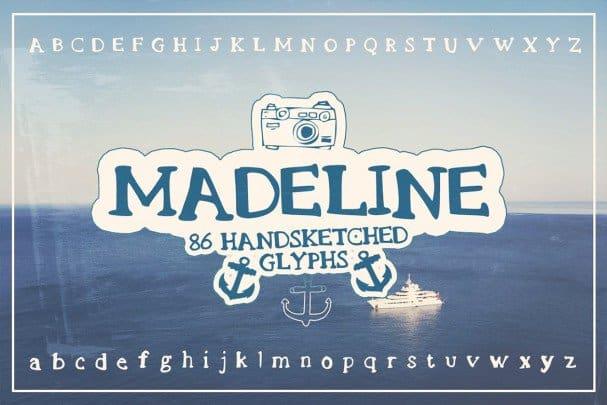 Madeline Handsketched   шрифт скачать бесплатно