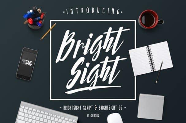 Bright Sight шрифт скачать бесплатно