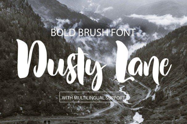 Dusty Lane Brush   шрифт скачать бесплатно