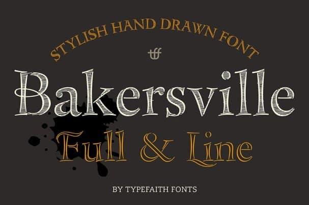 Bakersville шрифт скачать бесплатно